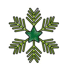 Christmas snowflake winter decoration ornament vector