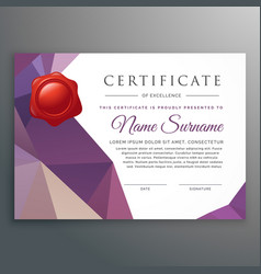 Creative certificate design template with vector