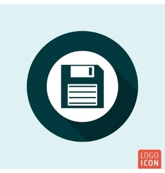 Diskette icon isolated vector image vector image
