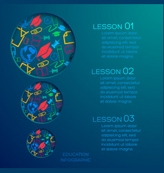 education abstract infographics vector image vector image