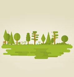 Flat nature vector image