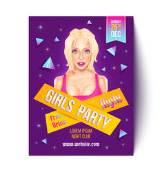 Girls party in nightclub vector