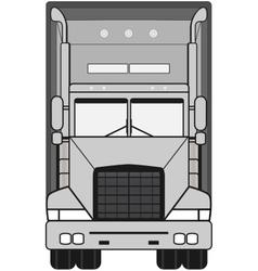 Gray isolated modern truck vector