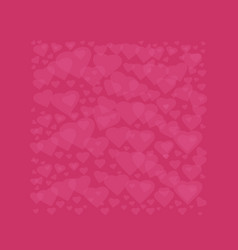 heart square frame for valentines day vector image