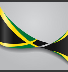 Jamaican wavy flag vector