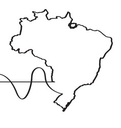 map of brazil continous line vector image