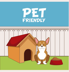 pet friendly cartoon vector image