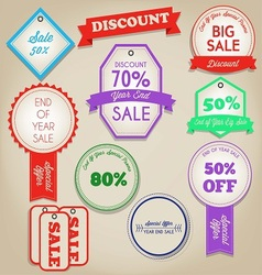 Sale discont label vector image vector image