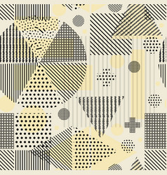 seamless background geometric shapes vector image