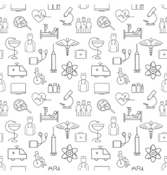 Seamless pattern of thin lines on medicine and vector