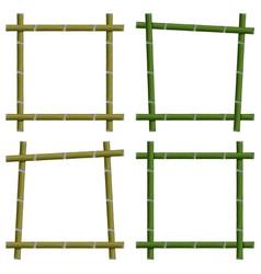 Set empty frames of bamboo stalks vector