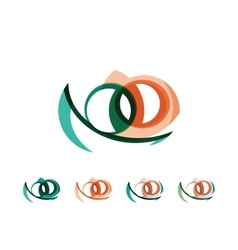 Set of infinity concepts loop logo designs vector image