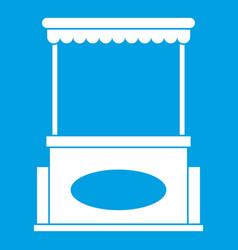 street kiosk icon white vector image