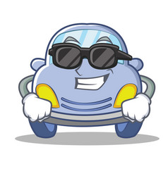 super cool cute car character cartoon vector image
