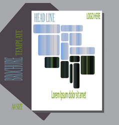 Template cover brochure booklet book folder vector