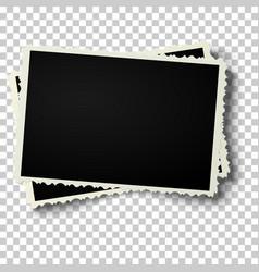two realistic retro photo frames vector image vector image