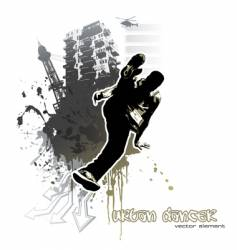 urban dancer vector image vector image