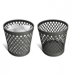 wastepaper basket vector image vector image