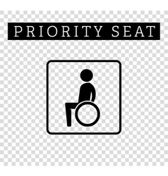 Disabilities or cripple in wheelchair sign vector