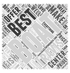 Travis boating center word cloud concept vector