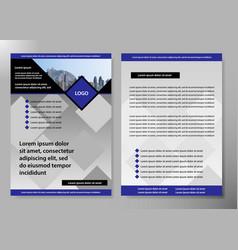 flyer cover business brochure design vector image