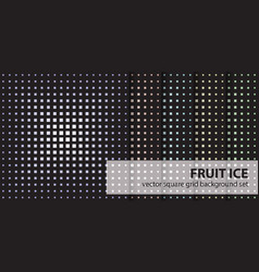 Square pattern set fruit ice seamless vector