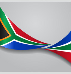 South african wavy flag vector