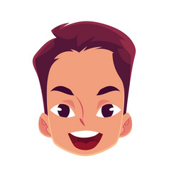 Young man face wow facial expression vector