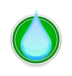 Water drop blue color sign on the white vector