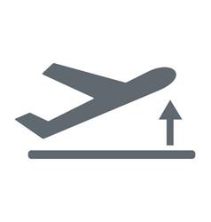 Departure take off plane icon simple vector