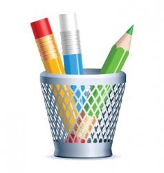 pencils vector image