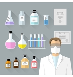Set - chemical designer flat design vector