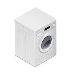 Washing mashine detailed isometric icon vector