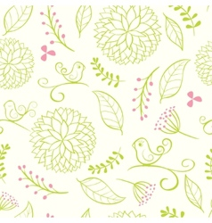 Floral summer background vector