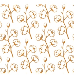 Cotton floral background vector