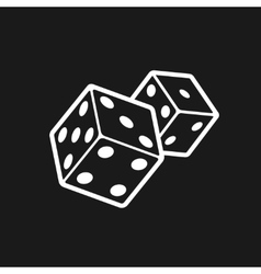 Two dices isolated on black background vector