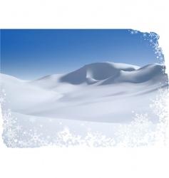 snowy mountain vector image