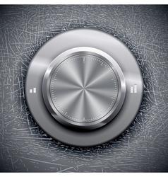 Grunge volume knob vector