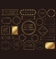 assorted gold vintage frames vector image