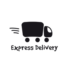 Black truck logotype express delivery logo vector