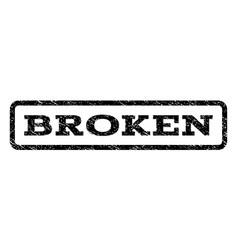 Broken watermark stamp vector