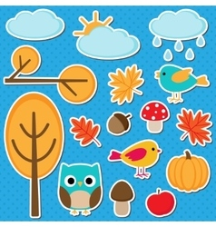 Different autumn elements vector
