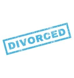 Divorced rubber stamp vector
