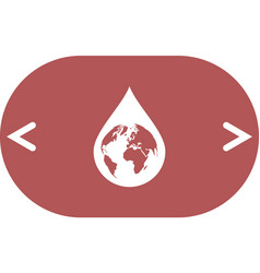earth in water-drop vector image