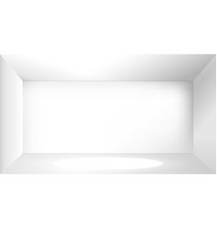 Empty white photo studio interior vector