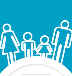 Family icon with place for text vector image vector image
