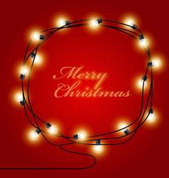 Festive frame made of shining Christmas Lights vector image