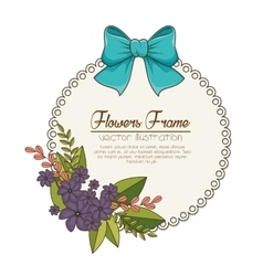 Flowers beautiful frame decorative vector