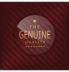 Genuine glass label vector