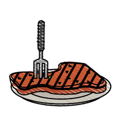 grilled meat vector image